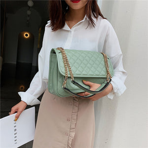 Women Leather Large Crossbody Bag