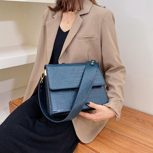 New Stone Pattern Small Square Women shoulder Bag