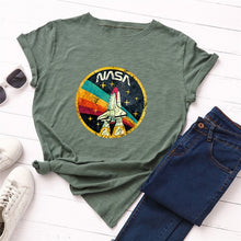 Load image into Gallery viewer, NASA ROCKET Print T-Shirt Women