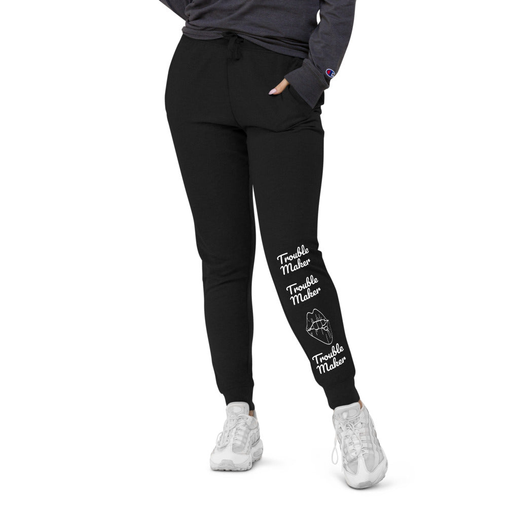 Trouble Maker Unisex slim fit joggers