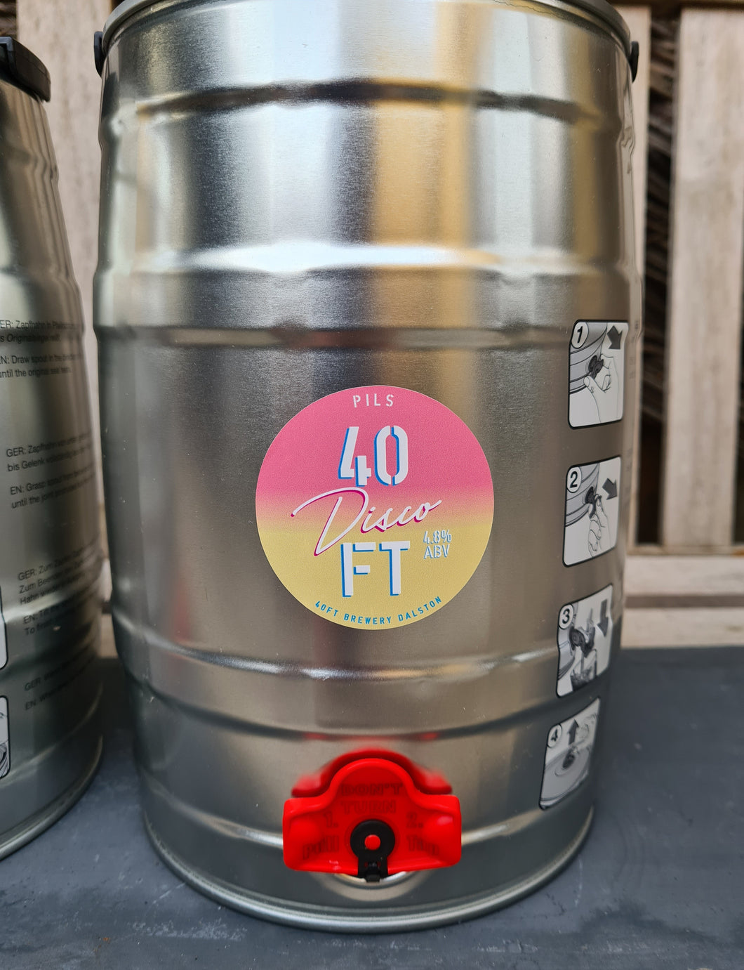 40FT - Disco Pils Mini-Keg - 4.8% ABV (5Ltr)