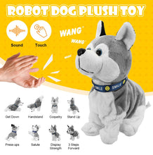 Load image into Gallery viewer, Sound Control Electronic Interactive Dogs Toy Robot Puppy Pets Bark Stand Walk 8 Movements Plush Toys For Kids gifts