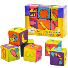 Load image into Gallery viewer, Baby Mobile Magic Cube Baby Toy Plush Block Clutch Rattles Early Newborn Baby Educational Toys 0-12 Months