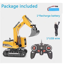 Load image into Gallery viewer, 2.4Ghz 6 Channel 1:24 RC Excavator toy RC Engineering Car Alloy and plastic Excavator RTR For kids Christmas gift