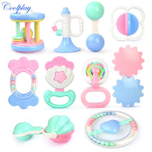 Load image into Gallery viewer, Coolplay Baby Toys Hand Hold Jingle Shaking Bell Hand Shake Bell Ring Baby Rattles Toys Newborn Baby 0- 12 Months Teether Toys