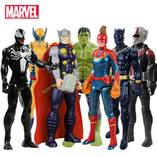 Load image into Gallery viewer, 30cm Marvel Avengers Venom Hulk Black Panther Ant Man Captain America Thor Wolverine Thanos Action Figure Kid Toy For Children