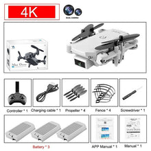 Load image into Gallery viewer, 2020 new mini RC drone 4K HD camera WiFi Fpv air pressure altitude maintenance 15 minutes battery life foldable Quadcopter toy