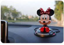 Load image into Gallery viewer, Disney Mickey Mouse Minnie Mouse Figure Doll Toy Car Accessories Fashion Disney Mickey Minnie Cartoon Shake Head Doll Car Deco