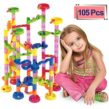 Load image into Gallery viewer, 105PCS Marble Run Maze Balls Track Building Blocks Toys For Children Construction Marble Race Run Pipeline Block Educational Toy