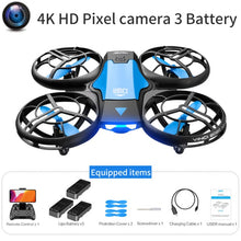 Load image into Gallery viewer, V8 Mini Drone 4K 1080P HD Camera WiFi Fpv Air Pressure Altitude Hold Black  Quadcopter RC Drone Toy