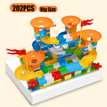 Load image into Gallery viewer, Marble Race Run Big Block Maze Ball Compatible Duploed Building Blocks Funnel Slide Blocks DIY Big Bricks Toys For Children Gift
