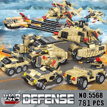 Load image into Gallery viewer, 2020 710PCS Tank Building Blocks Vehicle Aircraft Boy Toys Figures Educational Blocks Military Compatible LegoINGlys Bricks