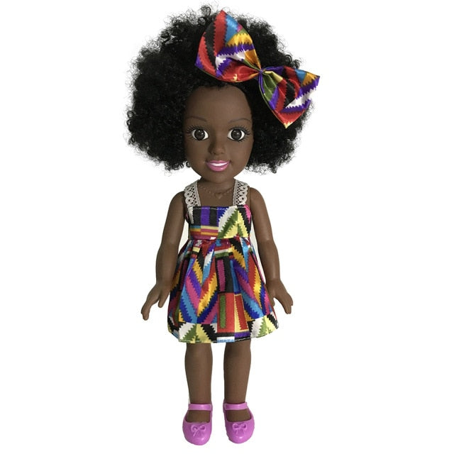 Baby Movable Joint African Doll Toy Black Doll Best Gift Toy Christmas Birthday Gift Baby Boys Girls Accompany Doll oyuncak