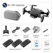 Load image into Gallery viewer, RC Drone UAV Quadcopter WiFi FPV with 4K HD Camera Aerial Photography Helicopter Foldable LED Light Quality Global Toy JIMITU