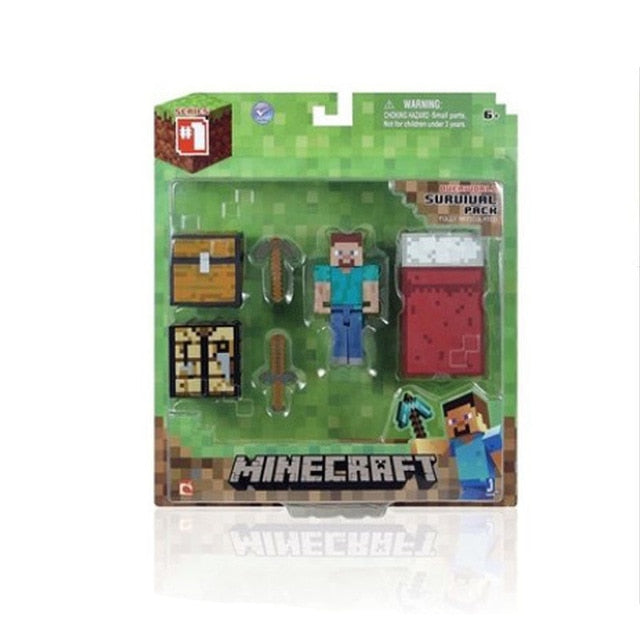 2020 Minecraft Steve Creative Peripheral Game Model Toys Action Figures Toys Birthday Christmas Gift for Kids Unisex