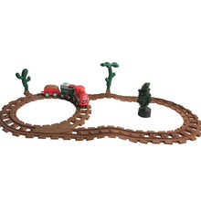 Load image into Gallery viewer, Toy Train Set with Lights and Sounds Christmas Train Set  Railway Tracks Battery Operated Toys Xmas Train Gift Moving Rail Train