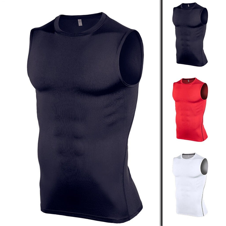 Men's Athletic Compression Shirts Sleeveless