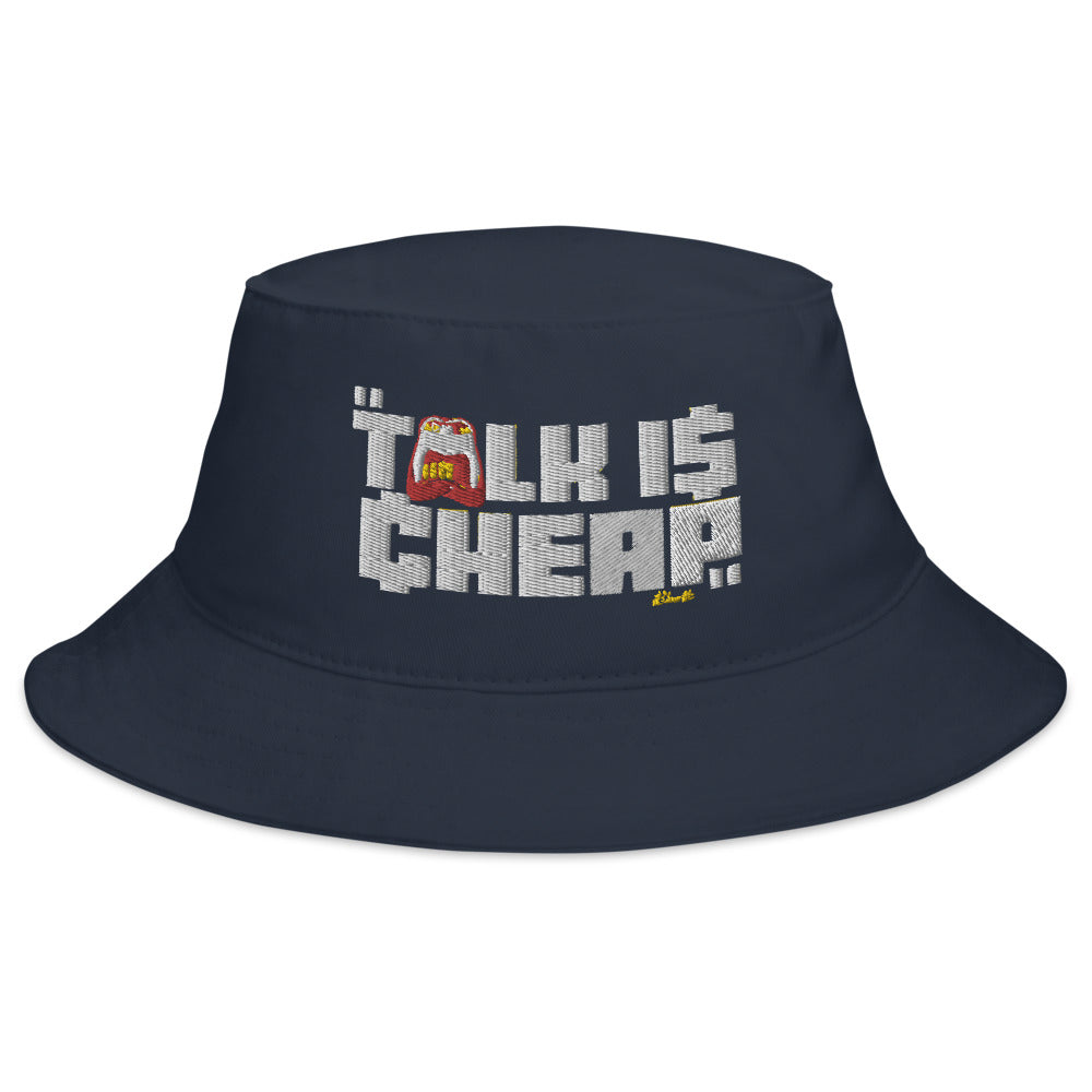 CHEAP TALK Bucket Hat (Navy)