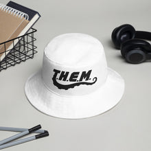 Load image into Gallery viewer, T.H.E.M. Bucket Hat (White)