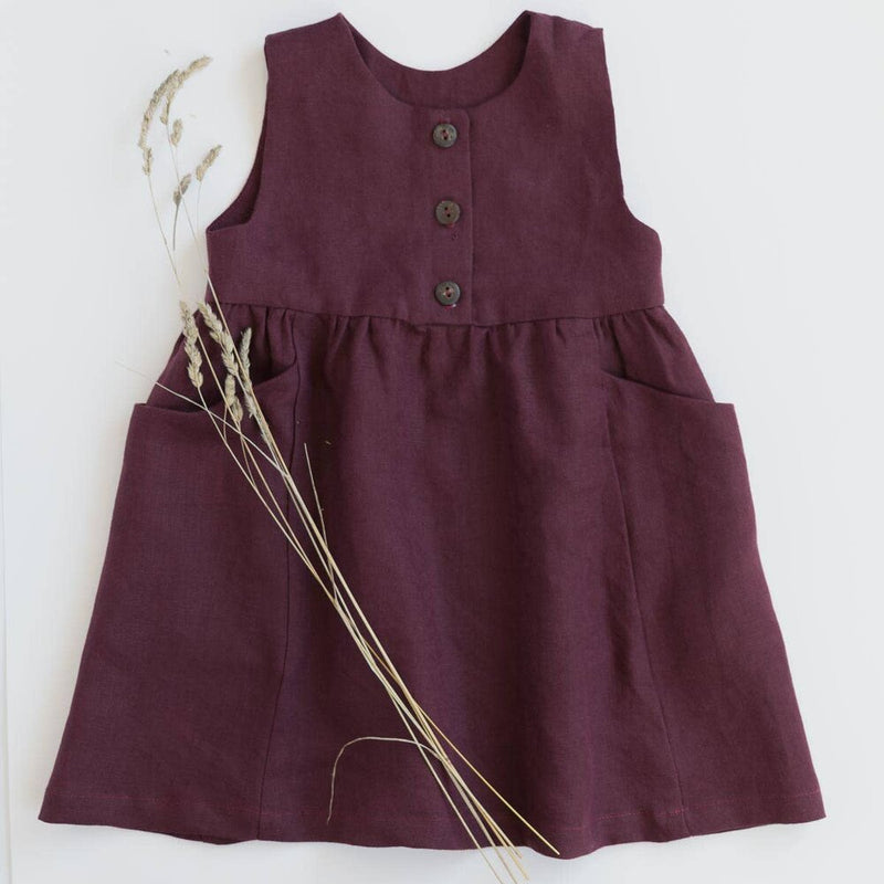 Treasure Dress- Burgundy Red