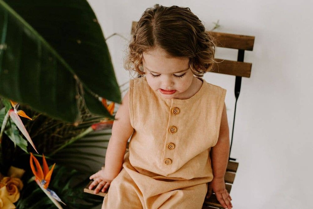 The Finley Romper in Sand