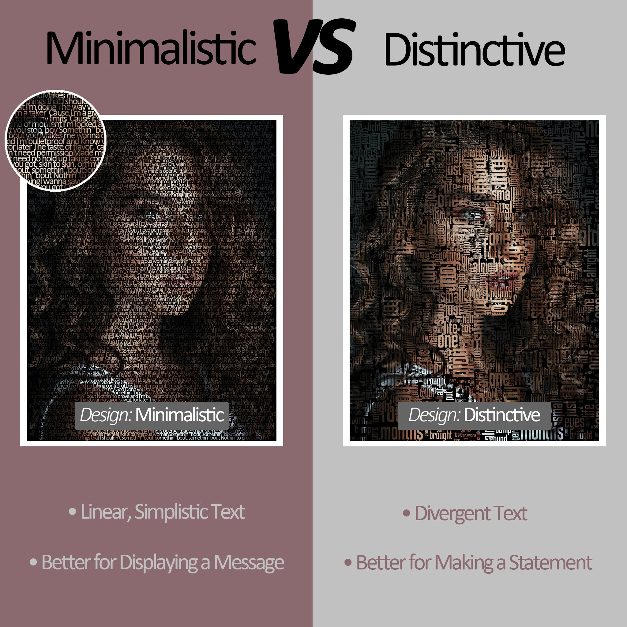 Difference between Minimalistic and Distinctive Design