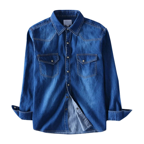 Pack Of Three Regular Fit Denim Casual Shirt with Heavy Wash