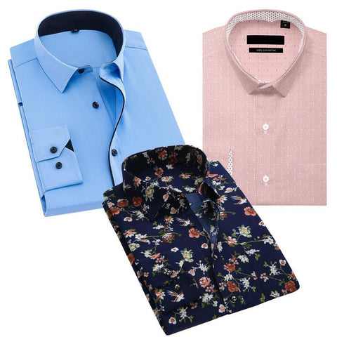 Combo Of Slim Fit Formal Shirt
