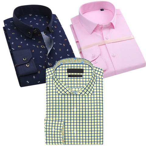 Combo Of Regular Fit Checked Shirt