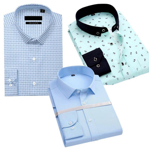 Combo Of Check Formal Shirt