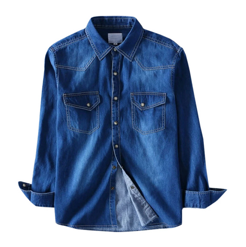 Dark Blue Shaded Denim Shirt!