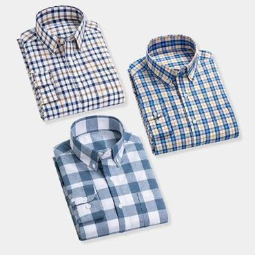 Combo Of 3 Solid Small Checkered Shirt for men