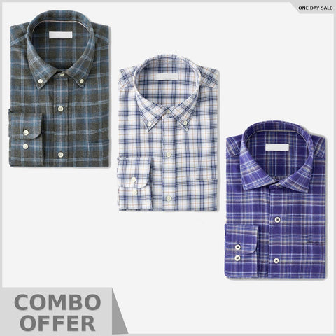 Combo Of Regular Fit Solid Formal Shirt