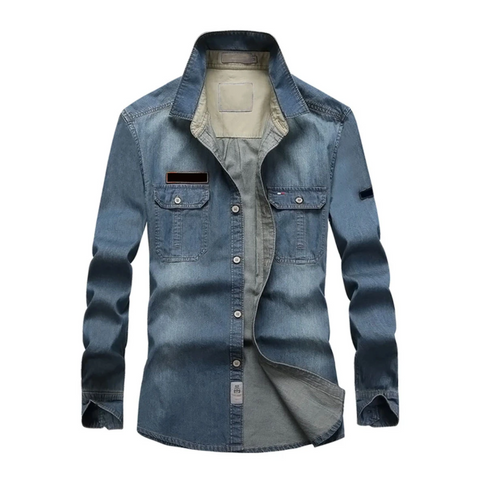 Slim Washed Denim Shirt