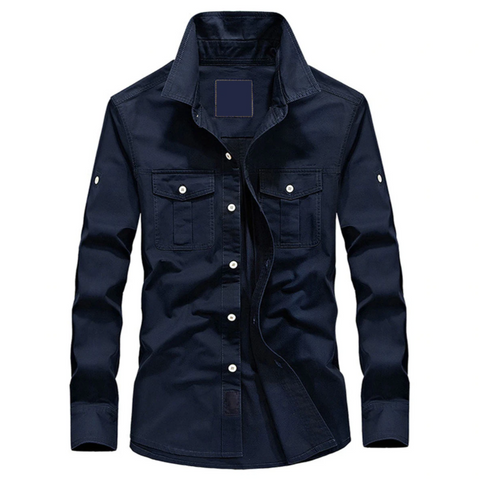 Dark Blue Denim Full Sleeve Shirt