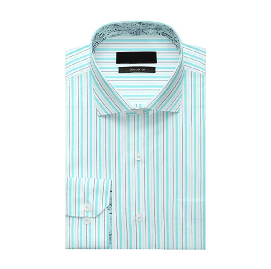 Sky Blue Lining Cotton Full Sleeve Shirt!