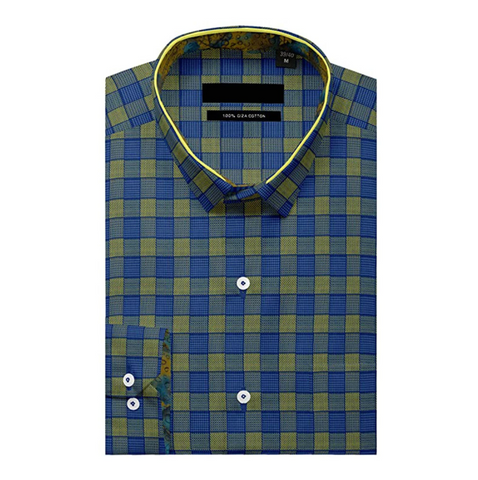 Blue Checkered Full Sleeve Shirt!