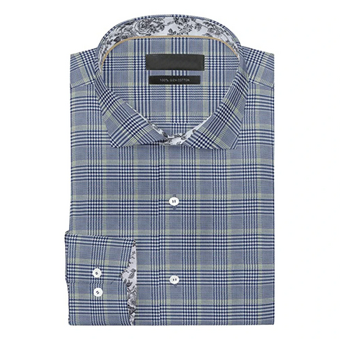 Grey Checkered Full Sleeves Cotton Shirt!