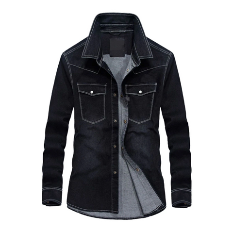 Black Shaded Denim Shirt!