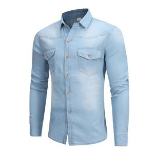Best Denim Slim Casual Shirt