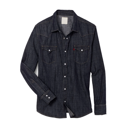 Black Denim Full Sleeve Shirt