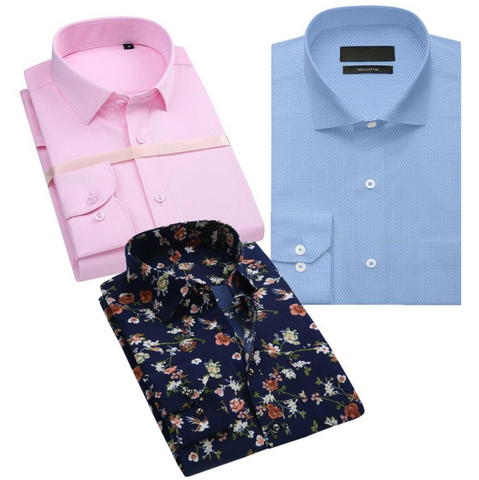 Combo Of 3 Regular Fit Easy-iron Best shirt