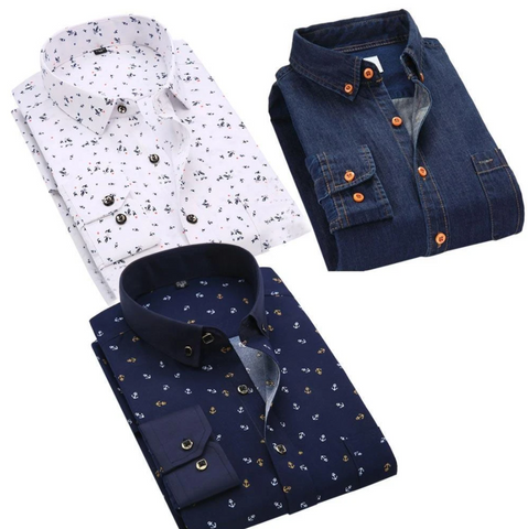 Combo of 3 Cotton Casual Shirt