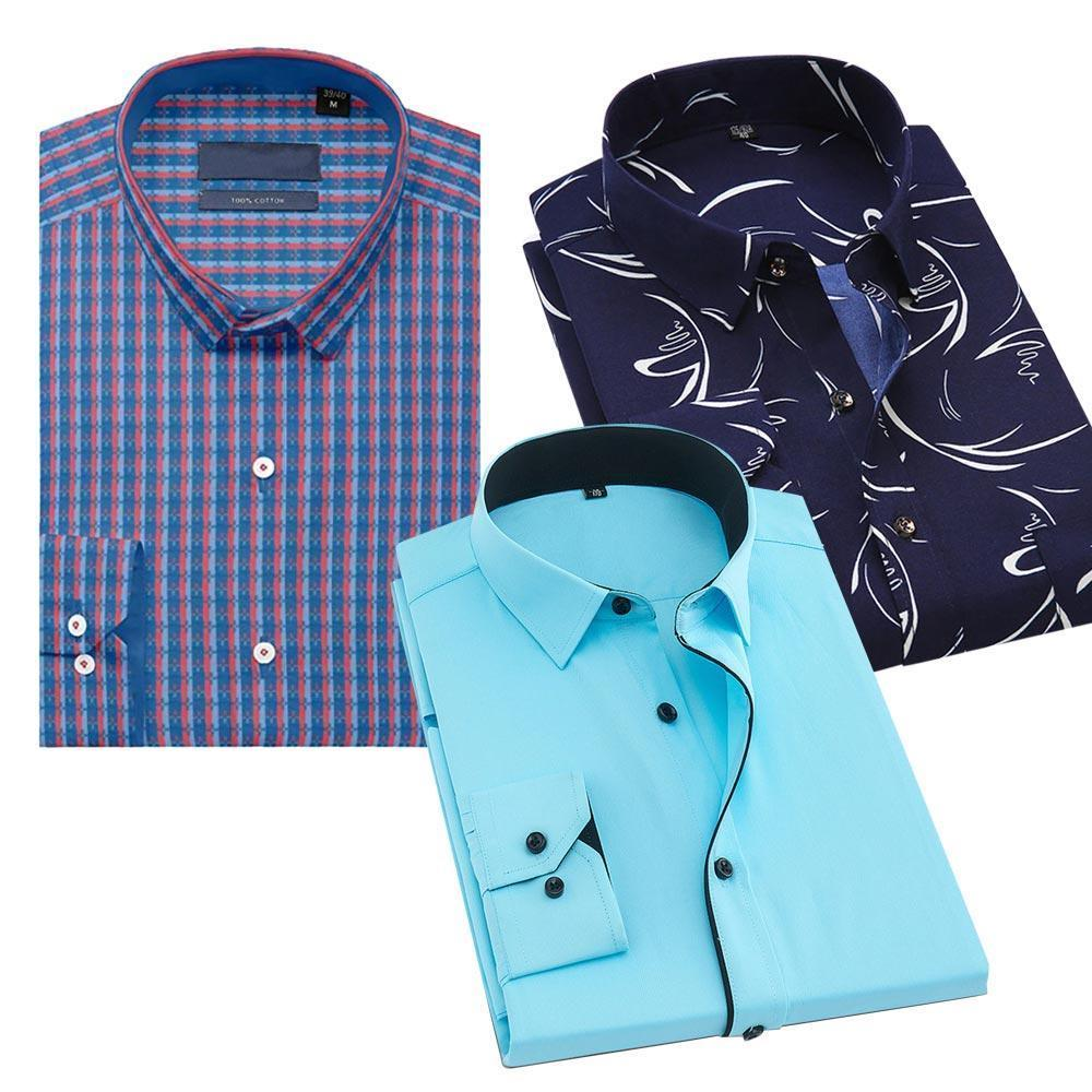 Combo Of 3 Slim Fit Printed Best Shirt
