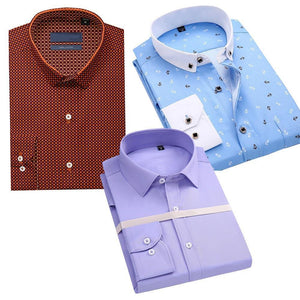 Combo Of 3 Slim Fit Checked Formal Shirt