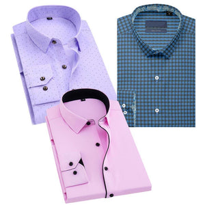 Combo Of 3 Regular Fit Solid Formal Shirt