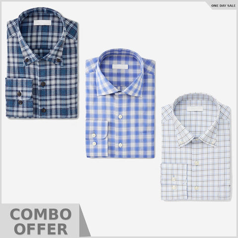 Combo Of Solid Easy-iron shirt Slim Fit