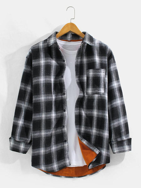 Combo Of 03 Mens Check Button Up Cotton Casual Long Sleeve Shirt