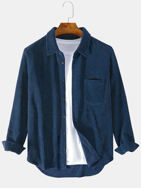 Pack of 03 Solid Color Pleated Long Sleeve Shirts