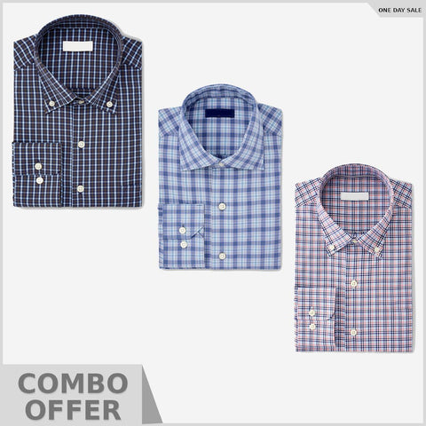 Combo Of Slim Fit Easy-iron shirt